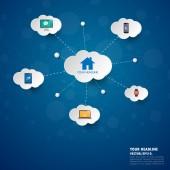 Sociální sítě infografika s ikonami