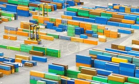 Cargo container in port - trasnportation