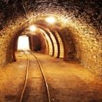 Underground mine tunnel, mining industry...