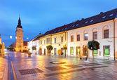 Trnava street with tower, Slovakia