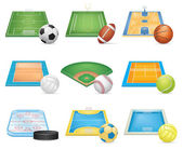 Detailed sport fields on white background vector EPS 10