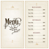 Restaurant or cafe menu design template
