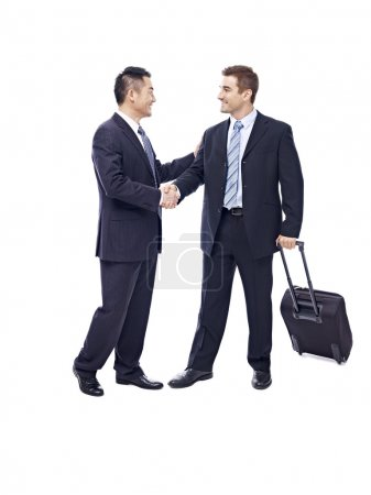 businesspeople meeting each other