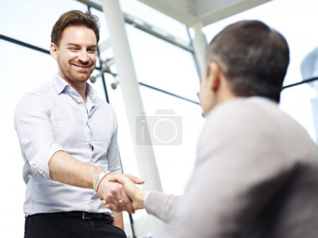 office people shaking hands
