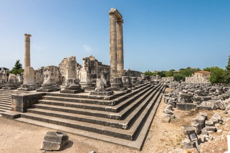 View of  giant columns of ancient Apollo temple in...