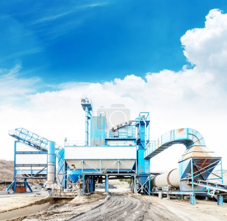 Open pit mining and processing plan