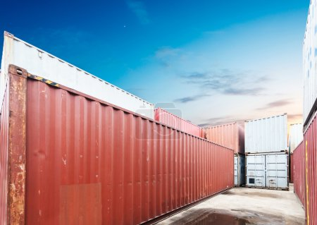 Stack of cargo containers at docks
