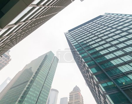 Photo for Metropolis of Shanghai's modern office building - Royalty Free Image