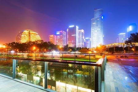 Modern buildings in hangzhou