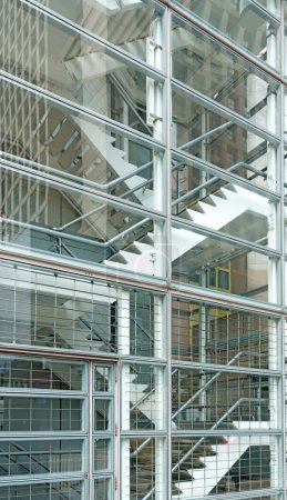 Interior of a modern glass building