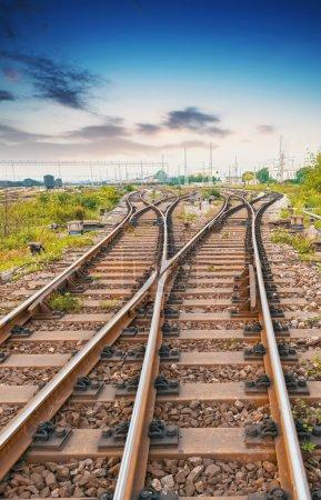 camino hacia adelante ferrocarril