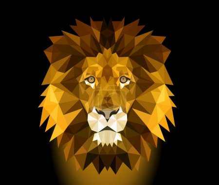 Illustration for An big head from an male lion in vector - Royalty Free Image