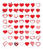 Big set of heart. Vector illustration.