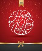 Happy new year card Vector illustration Can use for printing and web