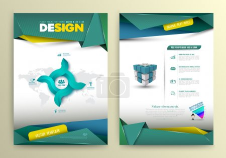 Illustration for Vector design page template modern style. Vector illustration. Can use for business data report, presentation, web page, brochure, leaflet, flyer, poster and advertising. - Royalty Free Image