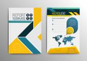Vector brochure template design with world map Vector illustration Can use for business brochure