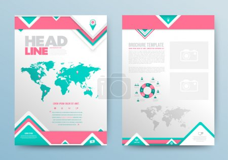 Illustration for Vector template layout for brochure, magazine, flyer, booklet, cover or report in A4 size - Royalty Free Image