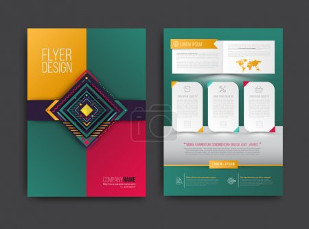 Illustration for Vector brochure, flyer, magazine cover and poster template. Vector illustration. - Royalty Free Image