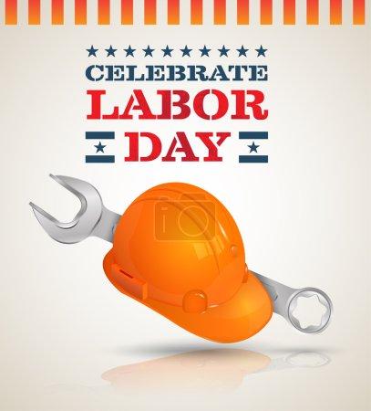 Celebrate Labor day poster.
