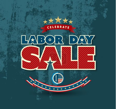 Labor day sale poster.