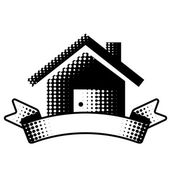 House symbol with ribbon