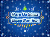 Christmas greeting card with snowfall effect