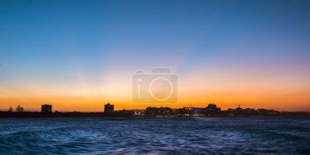 Mooloolaba beach at dusk