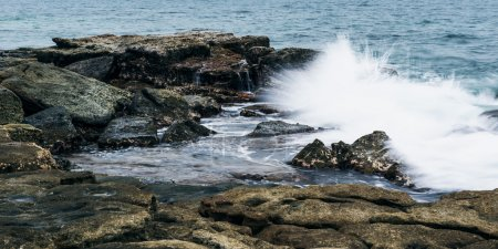 Rocks and waves at Point Cartwright