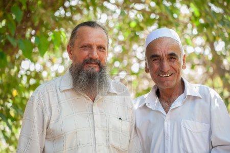 Photo friends - Tajik and Russian