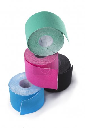 variety of therapeutic self adhesive tapes, taping kinesiologico