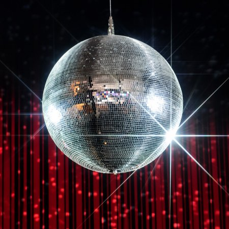 Disco ball with stars