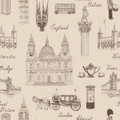 London landmarks seamless pattern