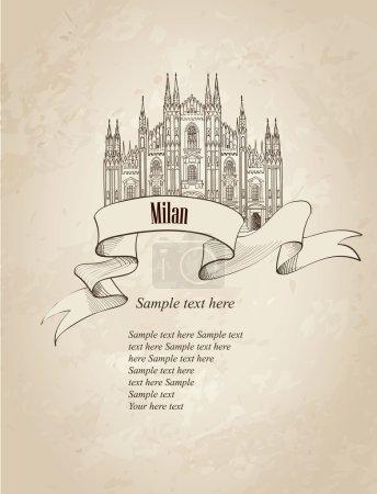 Milan citiy symbol Dome Cathedral.
