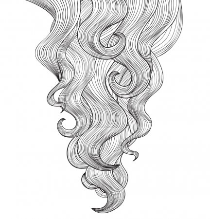 Illustration for Hair background. Beauty salon poster. - Royalty Free Image