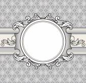 Frame french lily background
