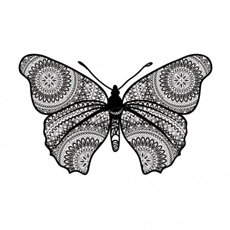 Abstract butterfly with grunge texture
