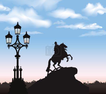 Illustration pour Pierre le Grand, monument historique de Saint-Pétersbourg, Russie - image libre de droit