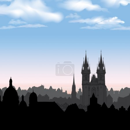 Prague morning view