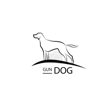 Dog symbol. Pet logo design.
