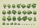 Collection of trees for video games