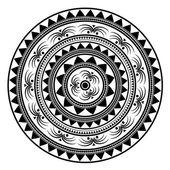 Obrysový Mandala. Etnické Amulet