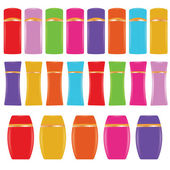 illustration  with cosmetic bottles on white background
