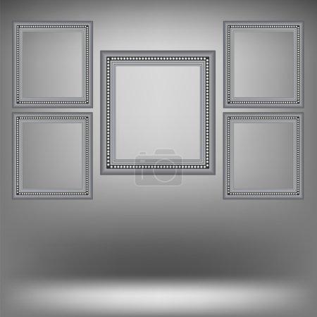 Set of Wood Grey Frames