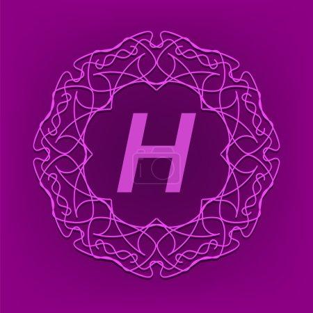 Monogram  H Design