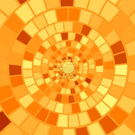 Orange Mosaic Background. Hypnotic Orange Mosaic P...
