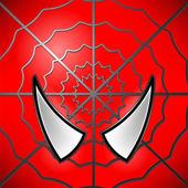 Superhero Red  Icon Mask Large Eyed  Superhero Symbol of Hero
