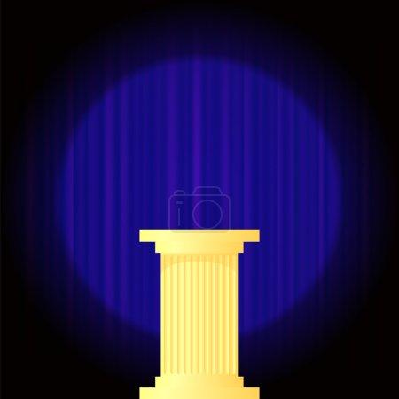 Yellow Marble Greek Column