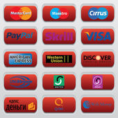 The logos of payment systems To make web sites brochures and other types of design