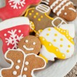Homemade christmas painted gingerbreads (gingerbre...
