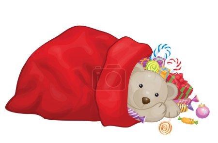 Santa Claus bag with gifts